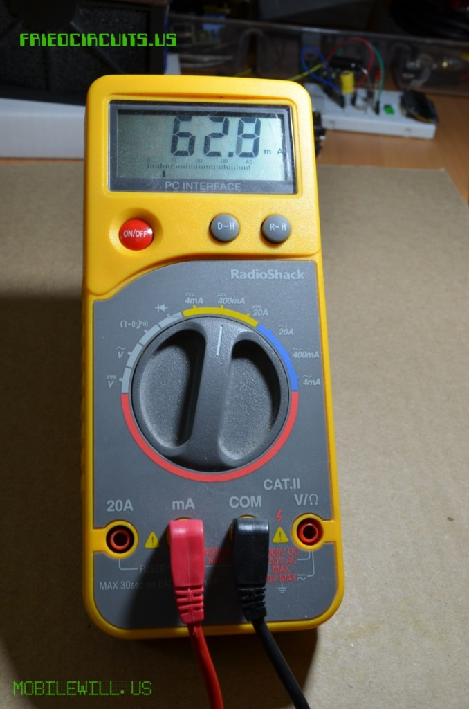 DMM Measuring current of an Xbee Series 1