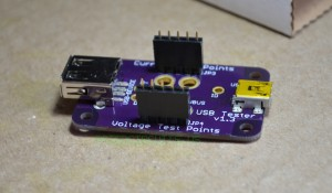 Place female headers on USB Tester