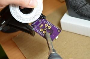 Soldering 2 pin header