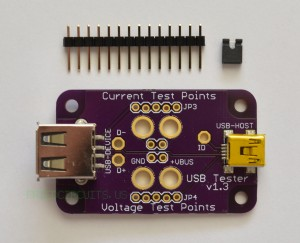 Parts included with USB Tester