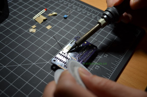 Insert and solder resistors