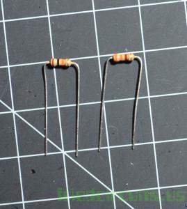 Bend resistors