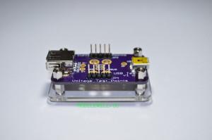 Acrylic base with USB Tester